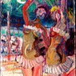 431124_Ballerine-del-circo-olio-su-faesite-25x35cm