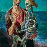 431163_Autoritratto-con-scheletro-olio-su-tavola-105x75cm
