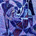 Donna-con-vela-olio-su-tela